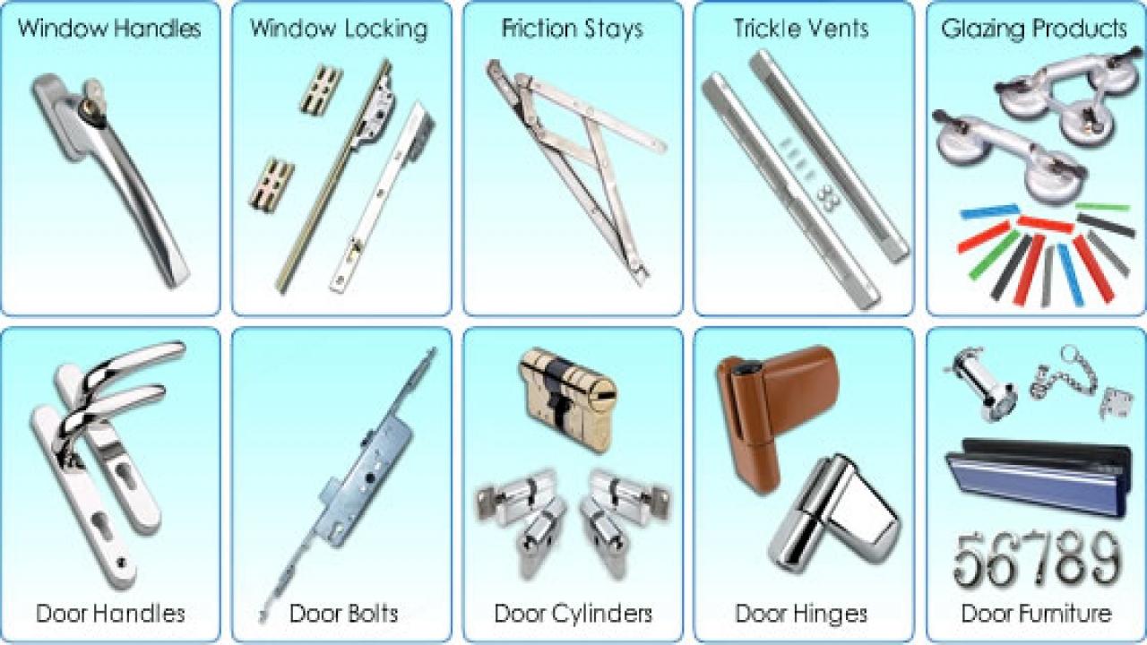 Hình ảnh về một số loại phụ kiện cửa nhựa lõi thép khác