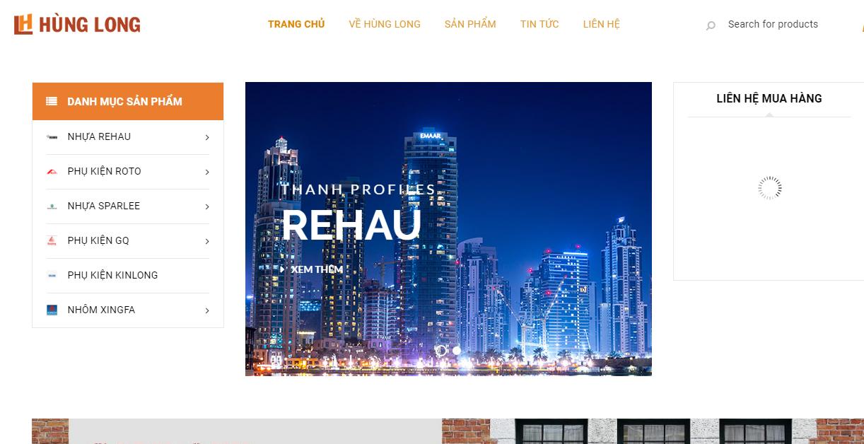 Website Hùng Long Cung Cấp Nguyên Liệu Cửa Nhựa uPVC