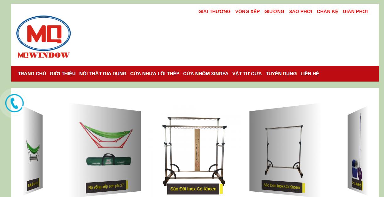 Website của công ty Minh Quốc cung cấp cửa nhựa lõi thép cửa nhom7