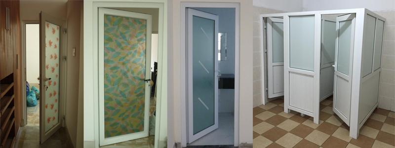 Cửa nhựa nhà tắm làm bằng nhựa uPVC