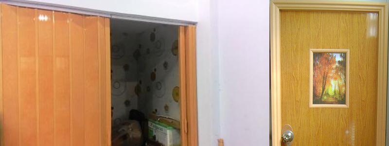 Dạng cửa nhựa nhà vệ sinh kiểu cũ