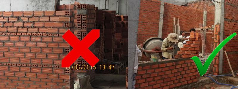 Không nên quay lỗ gạch vào cạnh cửa khi làm cửa nhựa lõi thép