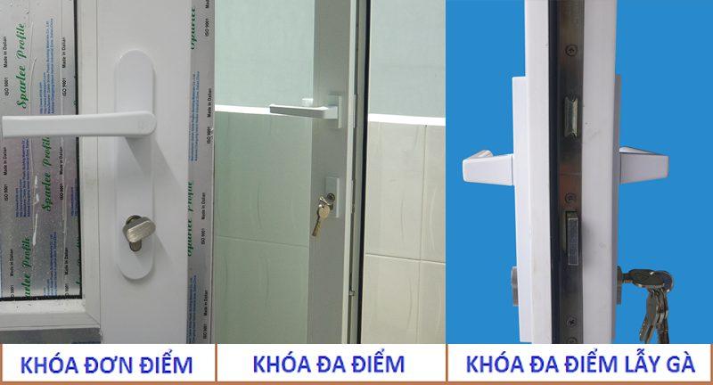 Các loại ổ khóa cửa nhựa lõi thép