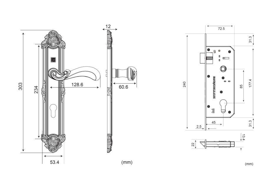 Thông số kỹ thuật bộ khóa HCR 8529