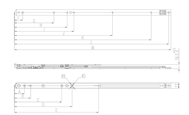 Thông số kỹ thuật bản lề chữ A GQ bản 22