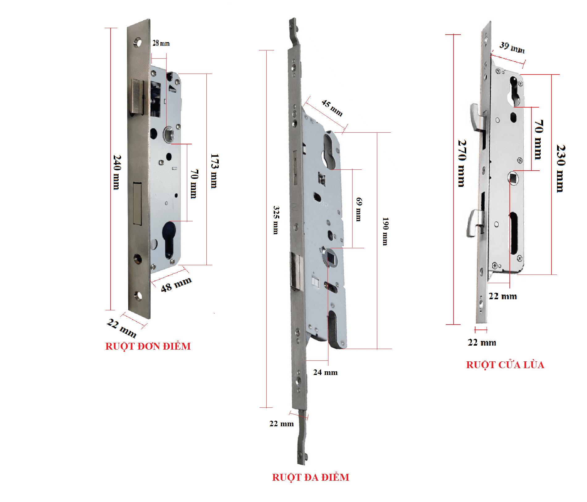 Thân khóa cho các loại cửa