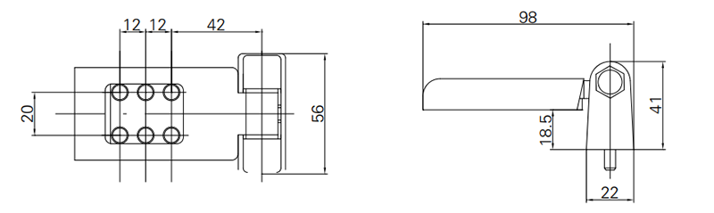 Thông số kỹ thuật bản lề 2D GQ