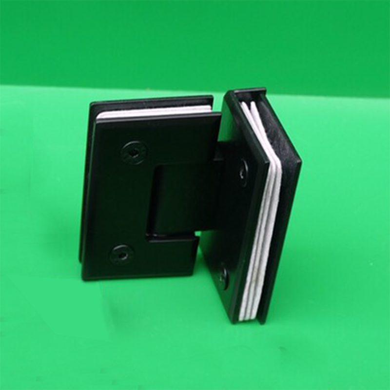 Bản lề kính kính 90 độ VVP màu đen