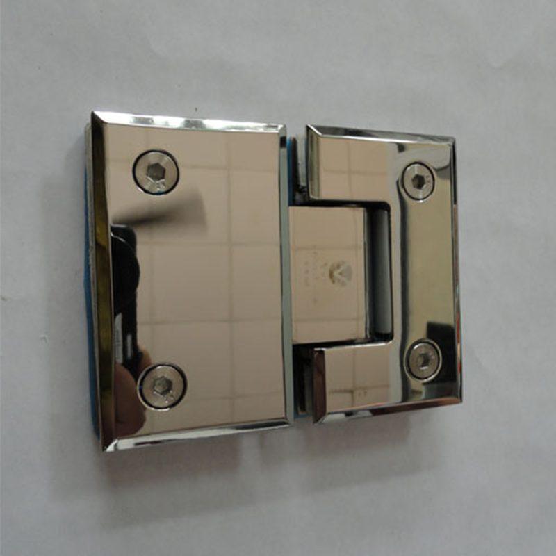 Bản lề kính kính VVP 180 độ trắng bóng