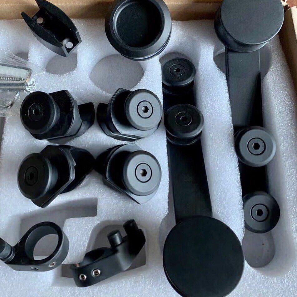 Bộ phụ kiện kính lùa đôi phi 25 VVP màu đen
