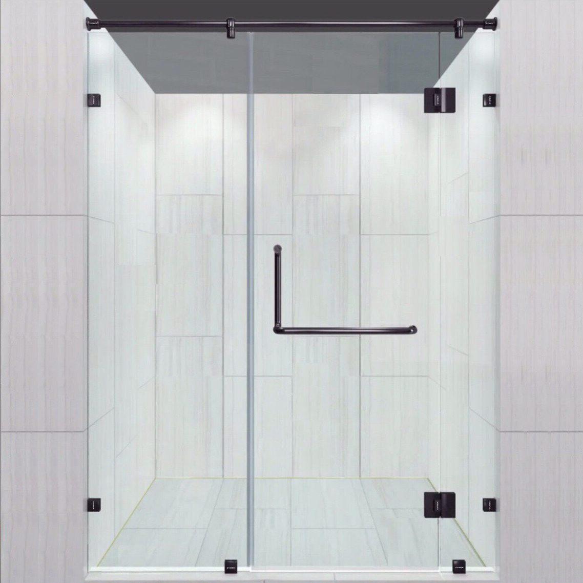 Bộ phụ kiện phòng tắm kính 180 độ VVP màu đen