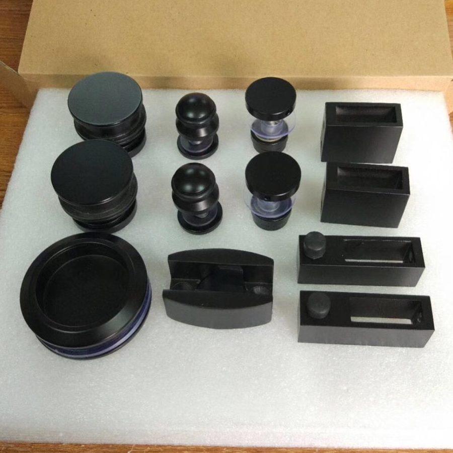 Bộ phụ kiện kính lùa treo ray 10x30 VVP màu đen