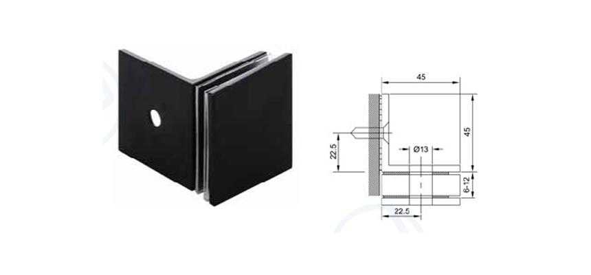 Thông số kỹ thuật pát tường kính 90 độ VPP màu đen